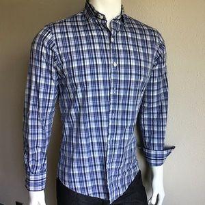 Men's shirt blue white